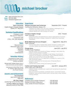 good resume design michaelbrockercom
