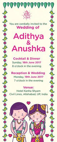 Tamil Iyengar Brahmin Wedding Invitation Card Design and Illustration by www.scdbalaji.com
