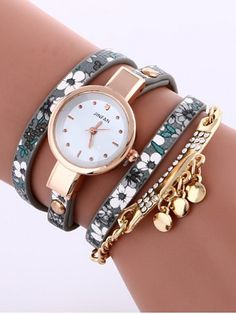 GET $50 NOW | Join RoseGal: Get YOUR $50 NOW!http://www.rosegal.com/watches/floral-printed-rhinestone-studded-layered-935432.html?seid=7976171rg935432