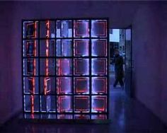 framework 5x5x5, an interactive kinetic light sculpture by LAb[au] (http://www.lab-au.com/f555), extending the bi-dimensional screen space, by transposition of its pixel resolution to the physical space.