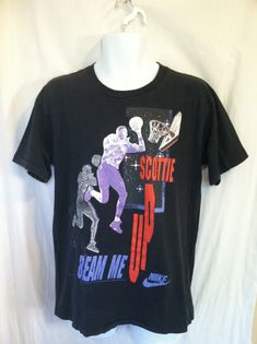 6440f40629a Vintage NIKE SCOTTY PIPPEN Tshirt/ 80s Original Beam Me Up Star Trek Funny T -shirt/ Nike Grey Tag Red Swoosh Tee