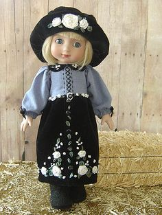 More embroidered doll clothes!