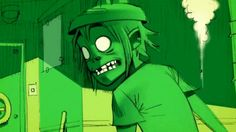 I am a Scared Gargoyle on the tower, that you made with plastic power. Gorillaz Lyrics, Gorillaz Art, Gorillaz Noodle, Jamie Hewlett Art, Demon Days, Damon Albarn, Gifs, Tank Girl, Cartoon Shows