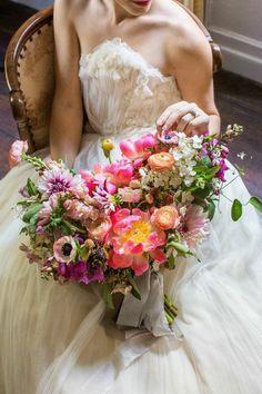 stunning bridal bouquet and wedding dress idea;  Lyndsey Hamilton Events