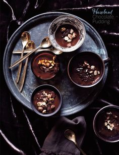Some amazing chocolate recipes right here...Chocolate Layer Cake with Salty Caramel Filling, Hazelnut Chocolate Pudding, and Chocolate Espresso Flan