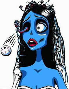 Restyle-T-Shirt-Corpse-Bride-Comic-Zombie-Steampunk-Gothic-Braut-Burton-Tim-RS55
