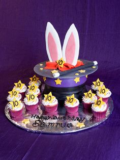 Sweetly Wild's latest creation. This magic hat cake was made for a 10 year old girl's magic themed party.