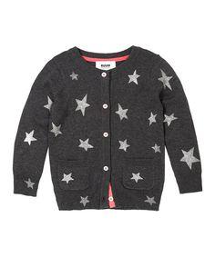 RUUM Dark Heather Gray Stars Cardigan - Infant, Toddler & Girls on #zulily today!