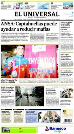 Portada Diario @eluniversal  Viernes 28/08/2014 #Titulares #Noticias #Prensa #PrimeraPagina #DesayunoInformativo