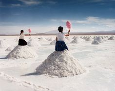 Dutch artist Scarlett Hooft Graafland chooses to produce work in remote locations where the inhabitants have been forced to adapt to the natural conditions rather than the other way around. For her it is not about being where only very few people have been before, but about discovering authenticity in a space, which often means that beauty and wonder simply drop into her lap.