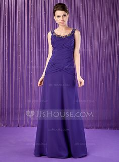 Mother of the Bride Dresses - $138.99 - A-Line/Princess Scoop Neck Floor-Length Chiffon Mother of the Bride Dress With Ruffle Beading (008018767) http://jjshouse.com/A-Line-Princess-Scoop-Neck-Floor-Length-Chiffon-Mother-Of-The-Bride-Dress-With-Ruffle-Beading-008018767-g18767