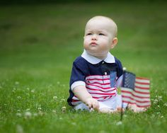 NEDC baby Levi poses for a picture of what's right with America.