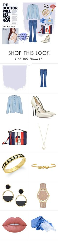 """""""Park Shin Hye on SBS 'Doctors'"""" by veramona on Polyvore featuring Frame Denim, Isabel Marant, Casadei, Dolce&Gabbana, Annoushka, Kate Spade, Lime Crime, NARS Cosmetics, Shin Choi and Versace"""