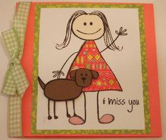 kids2love, extras4kids, Ben2love, Katie2love - I miss you - The Stamps of Life Gallery