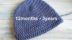 (crochet) How To - Crochet a Simple Toddler Beanie for 12 months - 3 years