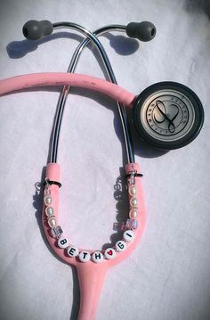 Crystals & Pearls PERSONALIZED STETHOSCOPE by ColorsOfFaithJewelry
