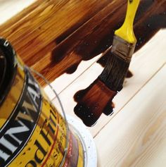 Staining and Finishing Tabletops using two stain colors blended, then spar urethane