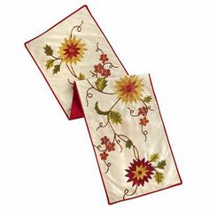 Embroidered Foliage Table Runner/Pier 1