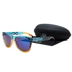 oakley outlet loveland  $16.99 oakley frogskins sunglasses blue lens blue orange leopard frames 39653 dealextreme