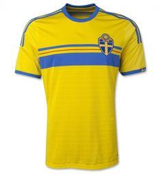 dee4b3903 SWEDEN Soccer Team 2014 Home Replica Jersey SWEDEN Soccer Team 2014 Home  SOCCER jerseys