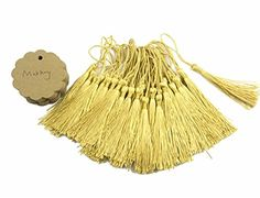 Makhry 100 Pcs Imported HardPaper Kraft Paper Gift Tags Wedding Favor Bonbonniere Favor Thank You Gift Tags with 100 pcs Handmade Silky TasselsRound Shape * Want to know more, click on the image.Note:It is affiliate link to Amazon.