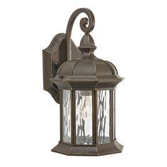 Kichler Lighting Brunswick 12.76-in H Olde Bronze Outdoor Wall Light