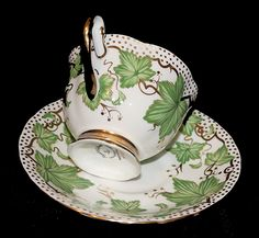 Vintage Royal Chelsea Ivy Teacup and Saucer