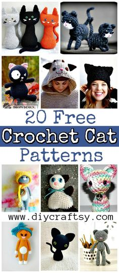 20 Free Crochet Cat Patterns - Crochet Cat Toys - DIY & Crafts