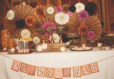 Wedding Dessert table via sincerelyarizona