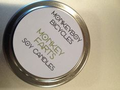 Hand-poured soy candle, Monkey Farts, Heaven Scent Bath and Body