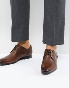 9f9fe0e8dac585 Ted Baker Pelton Leather Derby Shoes at asos.com