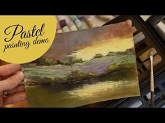 Painting with Pastels - Bethany Fields time-lapse - Sunset, Reflections, Trees - YouTube