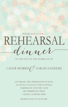 For the rehearsal dinner like the catch phrase at the top shimmer rehearsal dinner invitation by lilypadboutiquestore stopboris Image collections