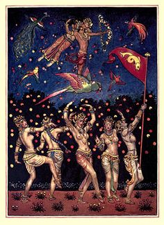 The garden of Kama and other love lyrics from India  arranged in verse by Laurence Hope; illustrated by Byam Shaw. 1914