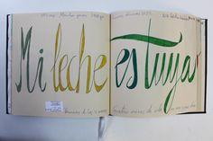 LAURA GUILLÉN 30-11-15 DIARIO SKETCHBOOK ARTE ART ARTISTA ARTIST AMOR LOVE BEBE BABY MAMA MOM NEWMOM LECHE MILK LETRAS LETTERS