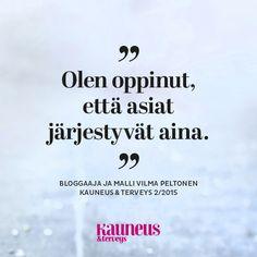 Bloggaaja Vilma Peltonen Kauneus & Terveys -lehdessä