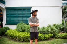 Shirt from Vanishing Elephant // Shorts from Uniqlo // Hat from Fallenbrokenstreet