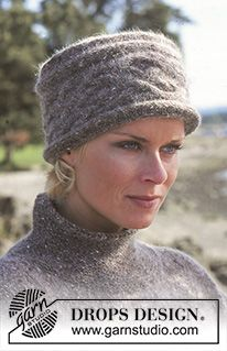Elaine Hat / DROPS - Free Knitting Patterns by DROPS Design Knitted hat / headband with braid in DROPS Alpaca and DROPS Kid-Silk. Suitable for head circumference 54 to 56 cm Always. Knitting Blogs, Knitting Designs, Knitting Patterns Free, Free Knitting, Hat Patterns, Crochet Patterns, Knitted Hats Kids, Knitting For Kids, Kids Hats