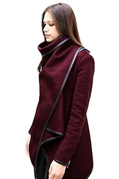 Babyonline Long sleeve women lapel Jacket Solid Wool Blends Long Trench Coats List Price: $39.60 Buy New: $22.90