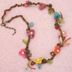 dragonfly flower vine crochet necklace | Kaboodle