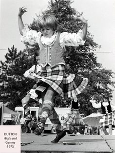 Dutton (Ontario) 1973 - Sword Dancing - Among the young competitors in the sword dancing was Donna MacPhee, 9, of Northville, Michigan.