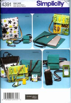 Simplicity Pattern 4391 for Computer  Bags and by clevercrafting, $3.75