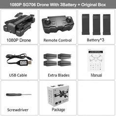 RC Drone 4K HD Dual Camera 50X Times Zoom