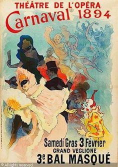 1894 - Jules Cheret - Théâtre de l'Opéra, Carnaval