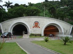 Visão do túnel,centro velho de Santos/SP