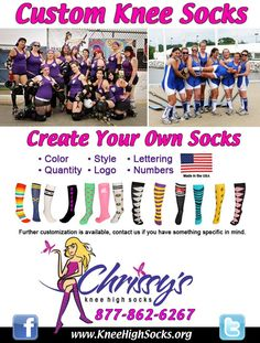 8 Best Custom Knee Socks Images Knee Socks Custom Socks High Knees