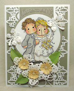 PJSDesigns: Luscious Lace Wedding Card
