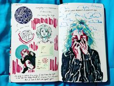 here's part 1 of my favorite spreads from my art journal