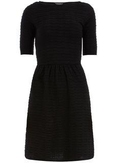 Black Ottoman Flare Dress - Dorothy Perkins