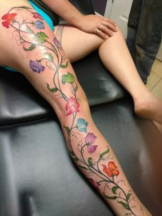 Sweet peas tattoo